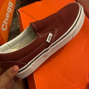 Maroon vans. Never worn before.